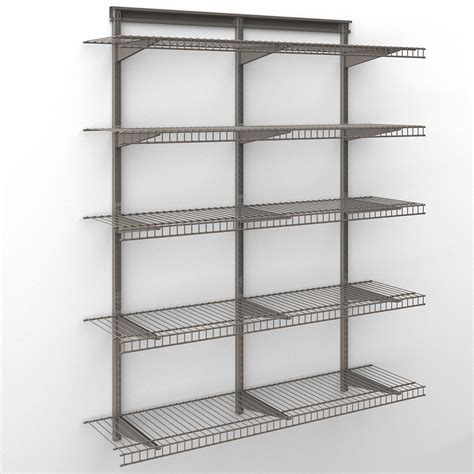 closetmaid shelf kit closetmaid shelftrack 4 ft wire shelf kit shop your way