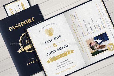 Passport Wedding Invitation By Vector Vactory Graphicriver Passport Invitation Template Photoshop