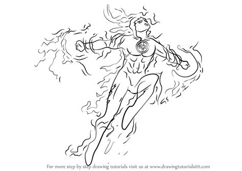 how to draw human doodle learn how to draw the human torch marvel comics step by