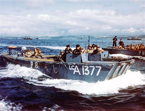 british higgins boat d day 71 years the invasion in color the firearm blog