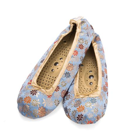 Holistic Silk Reflexology Slippers by Holistic Silk Massaging Slippers By Holistic Silk