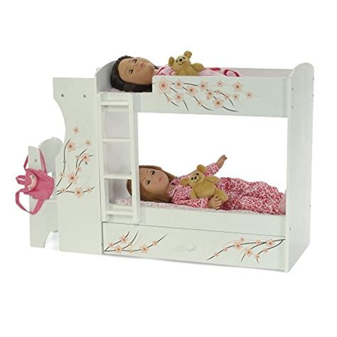 Bunk Bed For Dolls 18 Inch Fits American Doll Bunk Bed Desk Combo 18 Quot Inch Dolls Furniture New Ebay