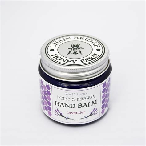 Lavender Balm honey and beeswax balm with lavender 50g chain bridge honey farm