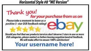 50 ebay seller custom personalized 5 reminder thank you business cards ebay