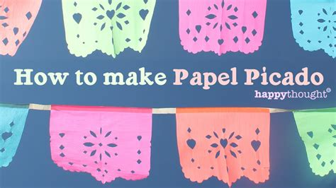 How To Make Mexican Paper Banners - how to make your own diy papel picado for or