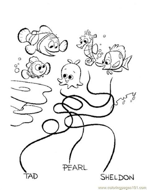 bloat finding nemo coloring page free coloring pages of bloat finding nemo