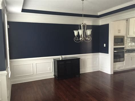 absolutely this navy blue color in our dining room sherwin williams naval 6244 from the