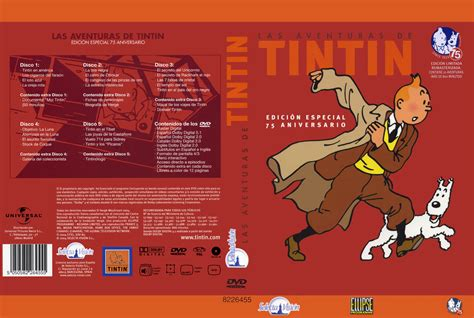las aventuras de tintin 8426107788 car 225 tula caratula de las aventuras de tintin caratulas com