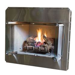 lowes gas fireplace inserts shop stainless steel outdoor vented wood burning fireplace insert at lowes