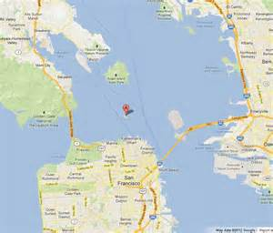 San Francisco On A World Map by Alcatraz On Map Of San Francisco Bay World Easy Guides