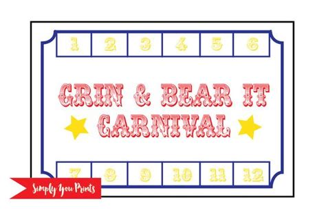 School Carnival Punch Card Template by The World S Catalog Of Ideas