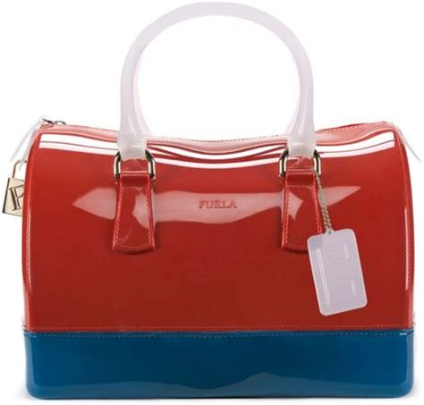 Furla Jelly Bag Preloved furla jelly bauletto satchel in blue lyst