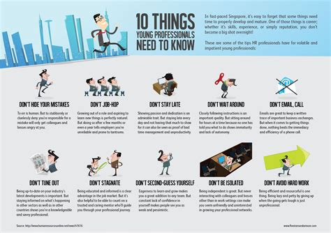Tips To Be Professional 10 Things Professionals Should Infographic