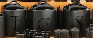 Kitchen Canisters Black Tea Coffee Sugar Jar Set Kitchen Storage Canisters Black