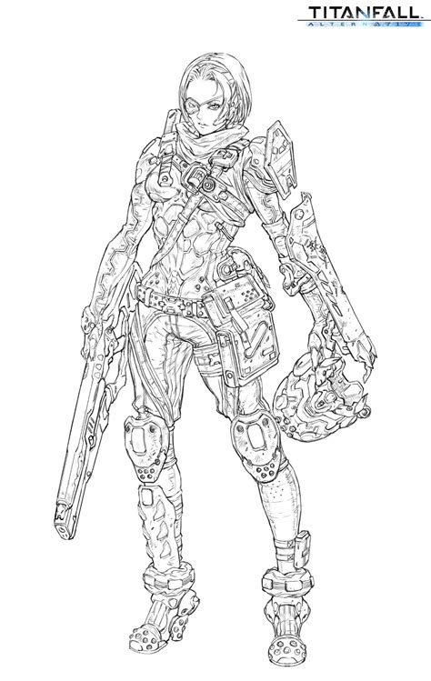 Titanfall 2 Coloring Pages by Titanfall Drawing Atlas Sketch Coloring Page Sketch