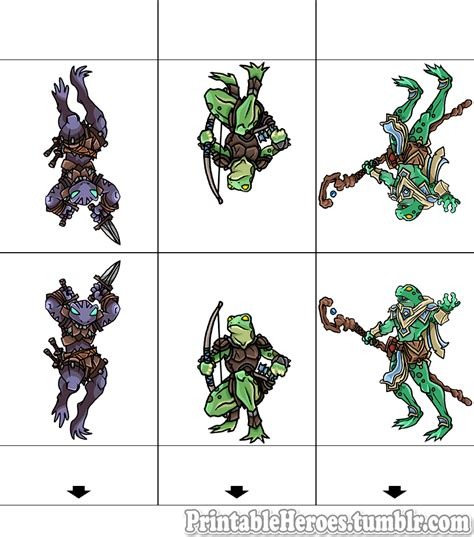 printable heroes how to print printable heroes grippli set rogue ranger and caster