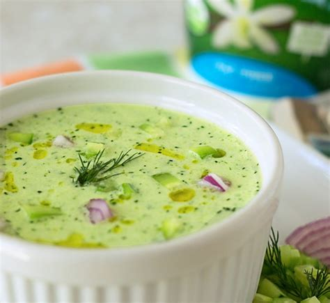 cold soup name chilled cucumber soup blender recipe its yummi