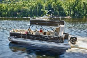 Pontoon Bathroom Premier Marine Debuts Upper Deck Pontoon Boat Trade Only