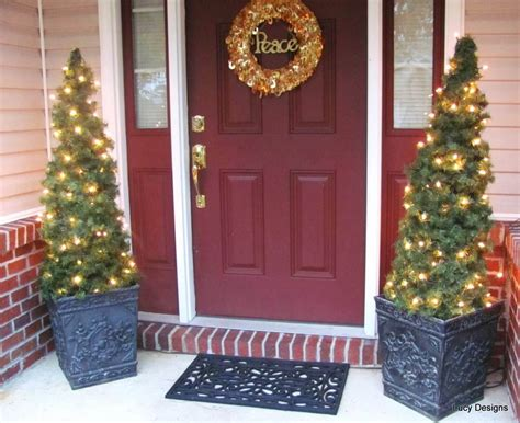 front porch christmas trees 22 best outdoor christmas tree decorations and designs for