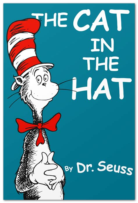 cat in the hat book pictures book covers in comic sans steve