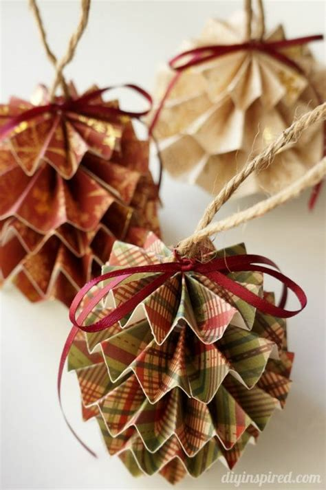 diy paper christmas ornaments with step by step photo