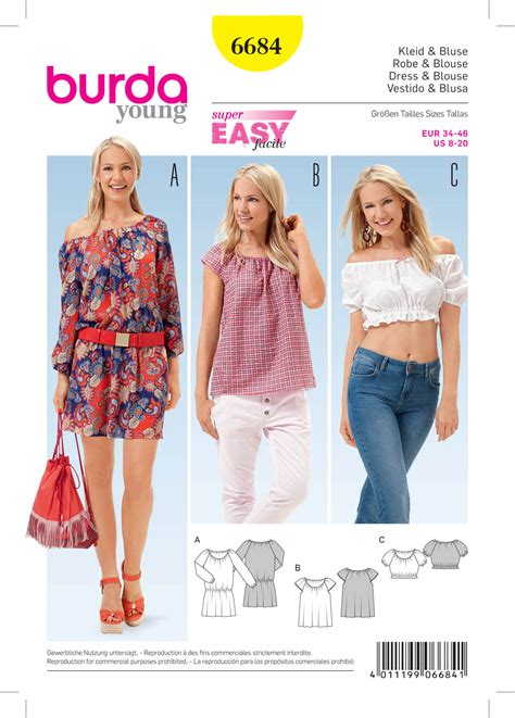 sewing pattern review blog burda 6684 women s dress and blouse