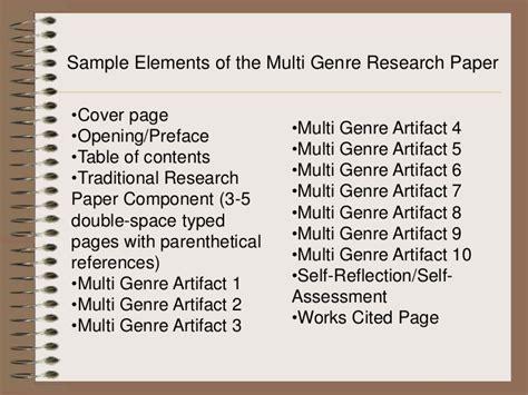 multigenre research paper multi genre
