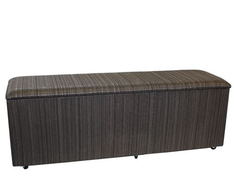 Just Ottomans Kensington Hotel Style Fabric Striped Ottoman