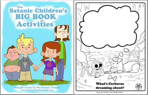 satanic coloring book satanists made a coloring book for schoolkids and