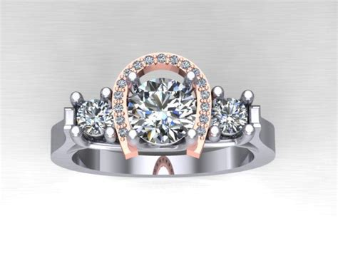 Horseshoe Wedding Rings by Horseshoe Engagement Ring Our Custom Pieces