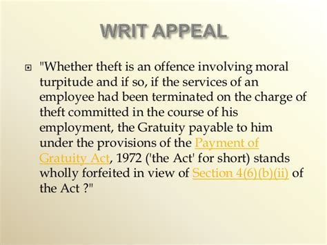 section 26 theft act gratuity act india