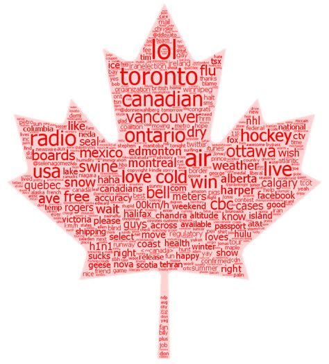 How To Search For In Canada Shaped Word Cloud Canada