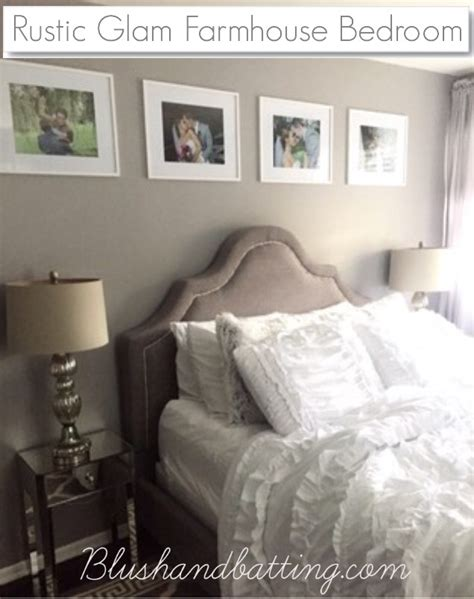 here in my bedroom rustic glam farmhouse gray bedroom blush and batting