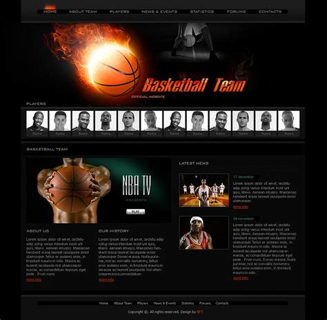 Free Basketball Team Templates Free Sport Templates Basketball Website Templates Pinterest Free Sports Team Photo Templates Downloads