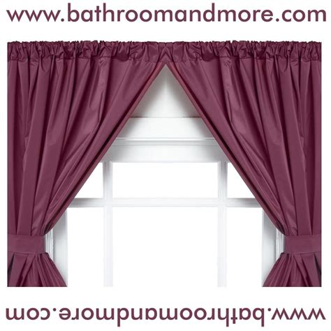 Burgundy Swag Curtains Burgundy 5 Vinyl Swag Bathroom Window