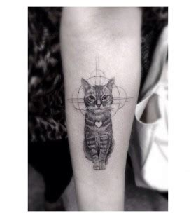 animal tattoo artists los angeles cute cat los angeles style tattoo