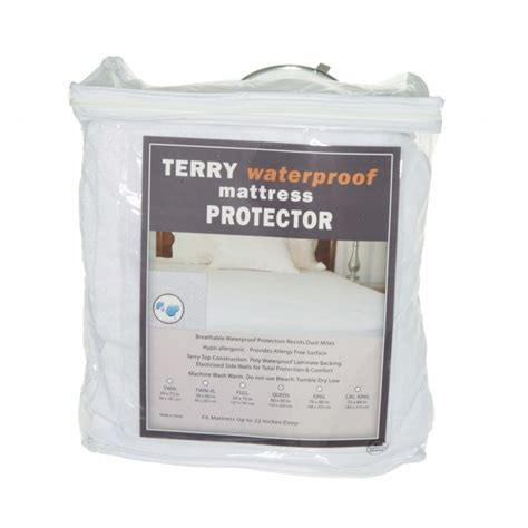 sleep comfort waterproof mattress protector terry waterproof mattress protector