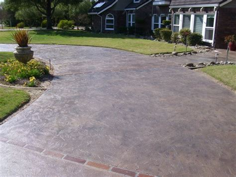 How To Refinish A Concrete Patio by Concrete Driveway Customization Resurfacing Sacramento