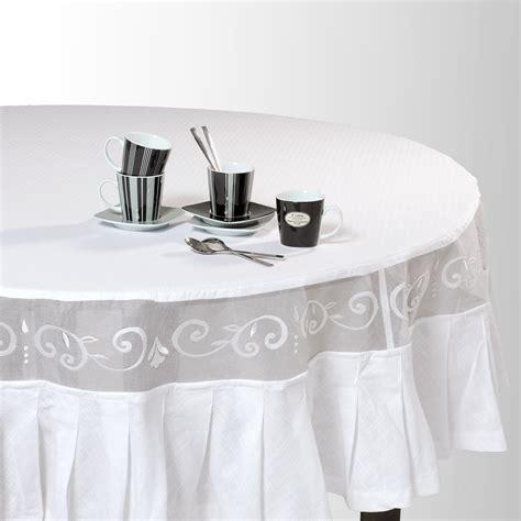 Merveilleux Deco Campagne Chic Chambre #4: nappe-ronde-en-coton-blanche-d-180-cm-1000-8-26-114826_2.jpg