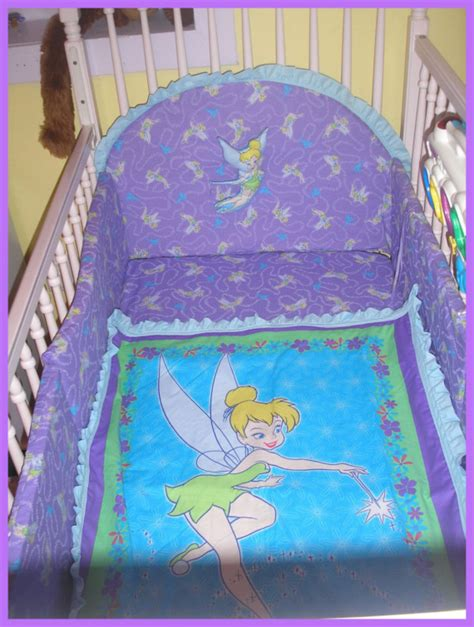 Tinkerbell Crib Bedding Sets Tinkerbell New Crib Bedding Set With 7 By Kustomkidsbedding