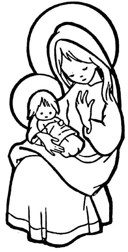 imagenes de jesus jose y maria para colorear compartiendo por amor dibujos virgen mar 237 a y el ni 241 o jes 250 s