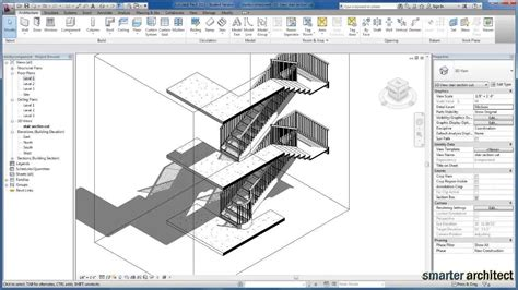 revit balustrade tutorial revit tutorials creating stair by component youtube