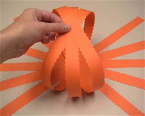 How To Make 3d Pumpkin Out Of Paper - paper pumpkin