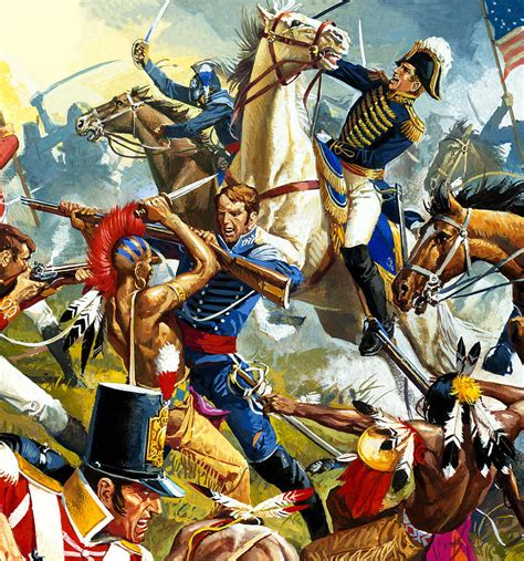 american indian painting american indians vs american soldiers painting by