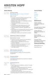 Assistant Editor Sle Resume by Assistant Editor Resume Sles Visualcv Resume Sles Database