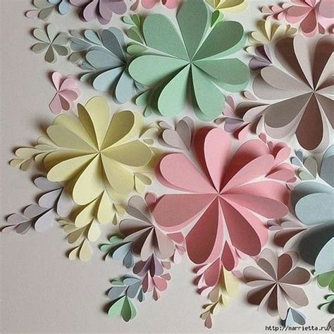 Paper Flower At Home - delightful diy paper flower wall for home decor