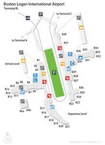 Boston Terminal Map by Bos Logan International Airport Terminal Map