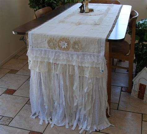 29 best shabby chic table runners images on pinterest