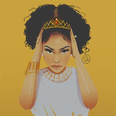 black queen art afrodesiacworldwide illustration315 beautifful curls