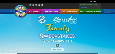 About Com Cash Sweepstakes - wheel of fortune beaches resorts family sweepstakes winzily